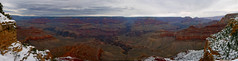 Cloudy GC 160 degree pano (urban guerrillas) Tags: arizona sky urban snow cold weather clouds pano grandcanyon wide panoramic canyon vast guerrillas