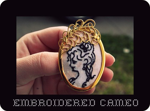 Embroidered Cameo