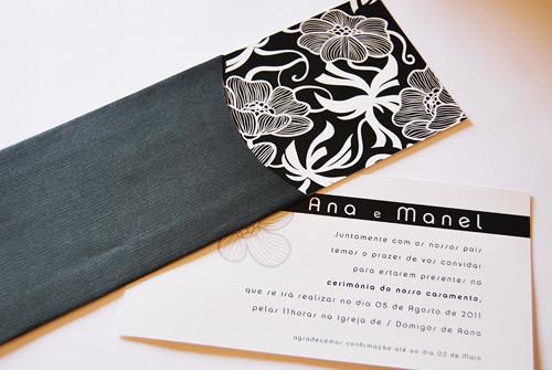 Convite de casamento black & white