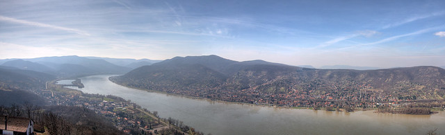 Panorama of the Danube Bend, Visegrád, Hungary