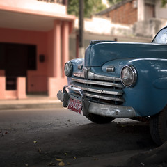 ford, now available in blue (urchino) Tags: ford cuba oldcar pinardelrio 1950sford lumixgf1 20mmpancake