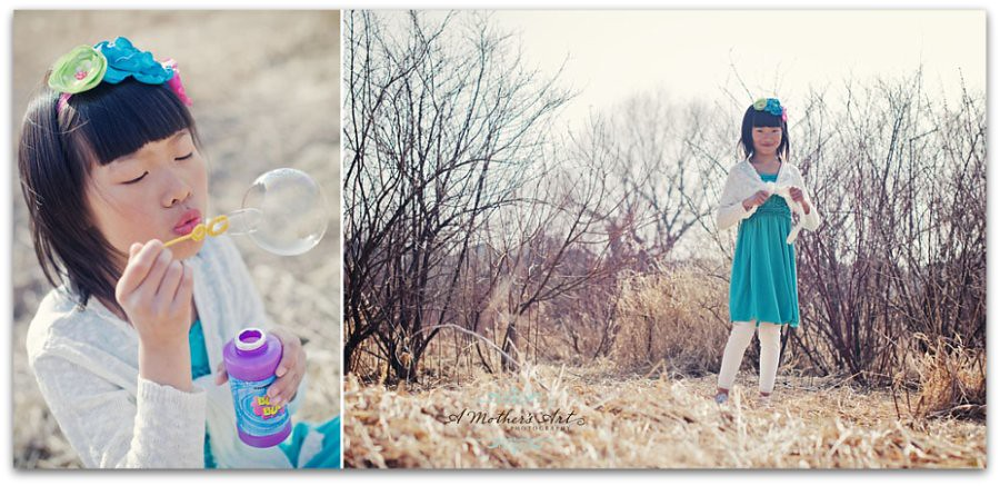 Grace Spring diptych bubbles