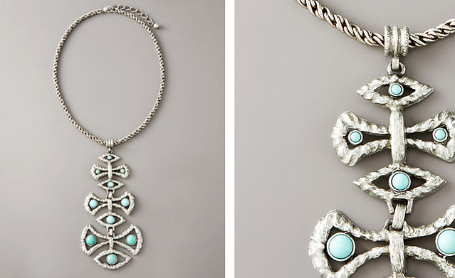 Theodora & Callum Aegean Necklace, Silvertone