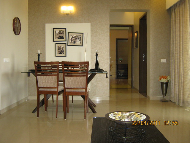 Dining in the sample flat of Park Springs - 2 BHK - 3 BHK Flats - Lohegaon Gram Panchayat - Dhanori - Pune