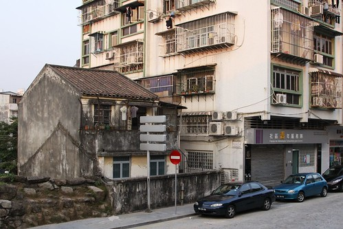 At least one old fashioned house still survives in Macau