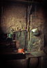 """Nuodeng 诺邓: in the kitchen of the oldest house in the village (avezink) Tags: old trip travel utensils cooking kitchen countryside fireplace village antique rack april knives 中国 yunnan 旅游 ming province dipper cleavers taijitu yunlong 白族 云南省 太极图 """"bai nuodeng 云龙县 诺邓 minority"""" gettychinaq2"""