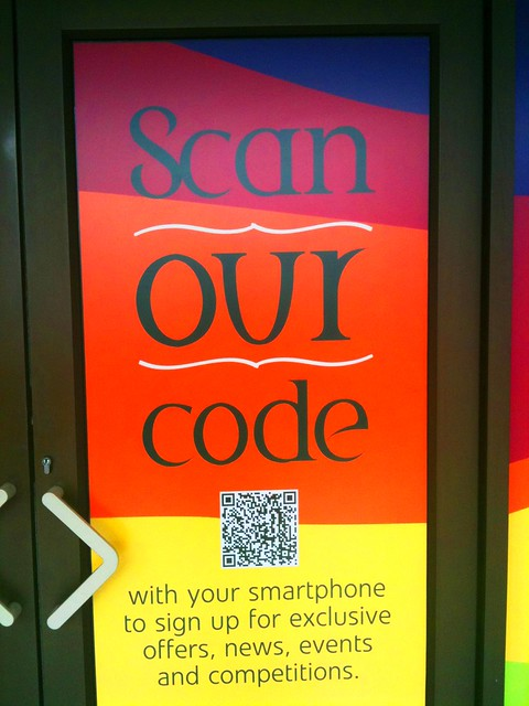 QRcode at Cheshire Oaks