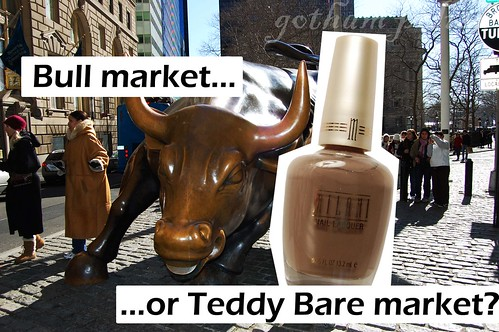 Teddy Bare Charging Bull