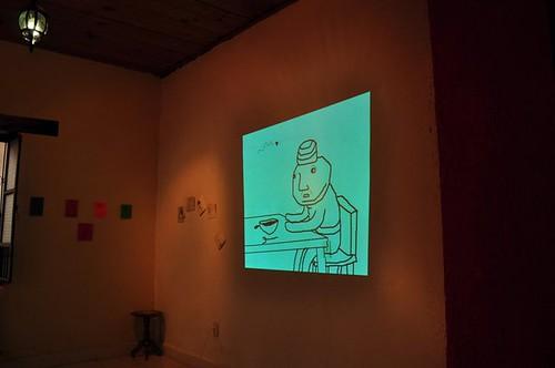exposicion de mi animacion en la Miau miau www.youtube.com/user/notengomanos by Crabrette