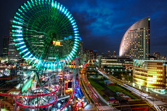 "MINATO MIRAI (James Chan ""JC Inspiration"") Tags: world travel inspiration building japan night shopping tokyo james cityscape 21 sightseeing landmarks m jc ferriswheel   yokohama kanagawa minatomirai  hdr pacifico nihon cosmoworld  sakuragicho  intercontinentalhotel 725    jameschan manyoclub jcinspiration"