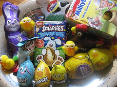 Easter eggs (georgiarae) Tags: rabbit easter cow chocolate chick smarties eggs hen cadburys milkybar