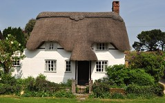 Thatched Cottage (dawn.v) Tags: uk england rural martin hampshire april thatch englishcountryside whitewash thatchedcottage englishvillage englishcottage chocolateboxcottage