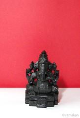 Ganesha 334 (ramakan) Tags: wood black ganesha lord days 365 carvings pillayar vinayagar ganapathi naturaldye