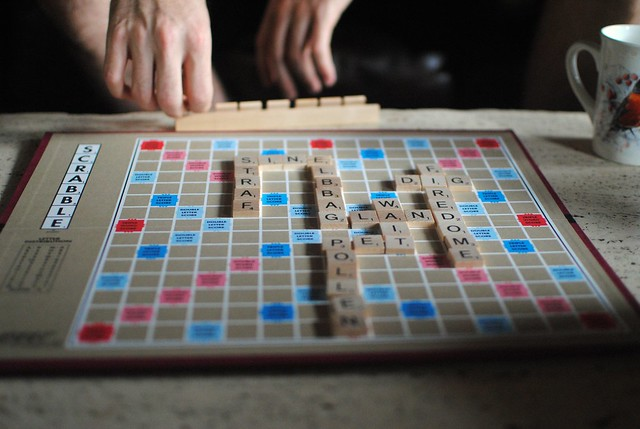pretty light on the scrabble board