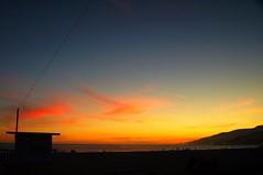 Santa Monica Sunset (TravLCox) Tags: ocean california sunset orange sun love beach sunrise fun coast sand santamonica wave silouette pch the4elements traviscox travlcox