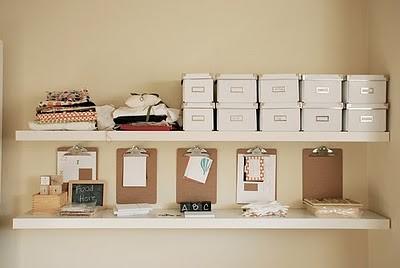 clip board white ikea boxes