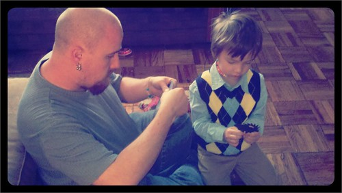 Daddy and Judah playing!!!!