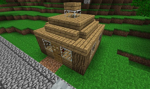 Step By Step Small Cabin Creative Mode Minecraft Java Edition