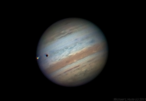 Jupiter and Io 090910 by Mick Hyde
