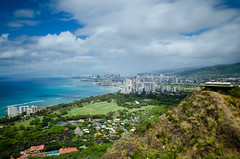 Diamond Head View - [EXPLORED] (andreaskoeberl) Tags: city longexposure mountain beach hawaii coast nikon cityscape waikiki crater shore nd diamondhead honolulu ndfilter 1685 d7000 nikon1685 nikond7000