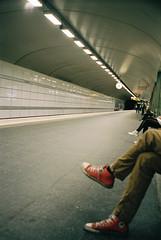 sub (Padraig Croke) Tags: trip subway sweden stockholm olympus converse 400 portra