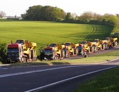 John Dickinson convoy (Yorkshire Truck Photography) Tags: truck john low loader dickinson haulage dumper