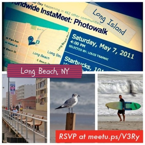 Join us for the Worldwide Instagram InstaMeet Photowalk on May 7th in Long Beach, NY. Be sure to RSVP if attending.