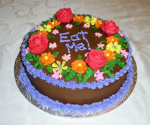 """""""Eat Me"""" Flower Cake 2"""