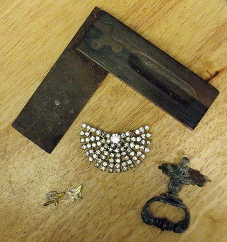 found objects and vintage jewelry