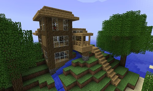 Step By Step Large Cabin Creative Mode Minecraft Java Edition