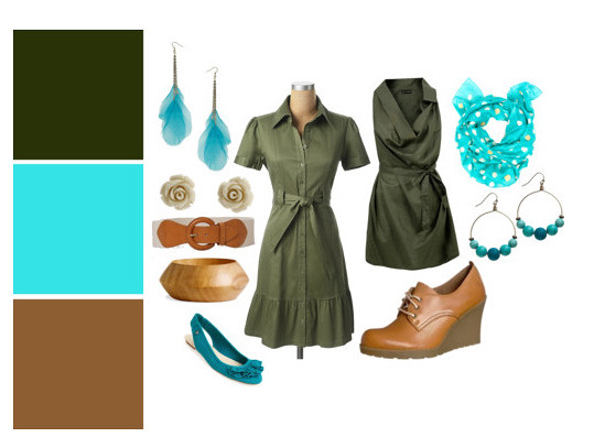 Olive and Turquois