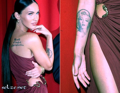 megan fox tattoos marilyn monroe. nm megan fox tattoo marilyn