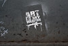 Cheaper than the real thing (Little Big Joe) Tags: street usa streetart newyork art graffiti stencil war gun pavement rifle sidewalk weapon d700