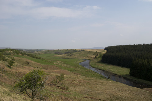 The River Ayr looking back towards Kames
