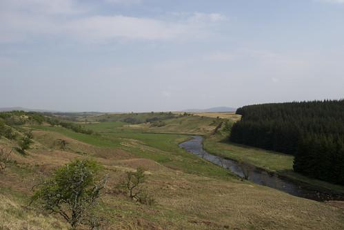 The River Ayr looking back towards Kames