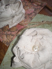 linen brooches