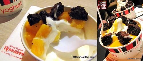 Frozen Yoghurt - Mango + Brownie Bits