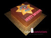 Sheriff Badge Birthday Cake (CakeConvictions) Tags: birthday cake star police badge sheriff fondant