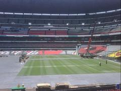 Tercer día de montaje - Estadio Azteca 21