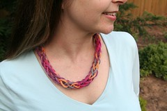 Finished Mother's Day Yarn Necklace
