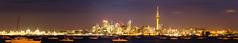 Auckland City Night Panorama (Rodders13) Tags: auckland nz longexposure 30seconds panorama cs4 lightroom canon 60d 1785 night water