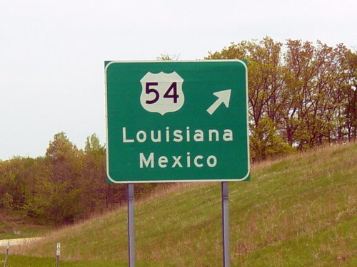 Loiusiana Mexico sign by hammskaren