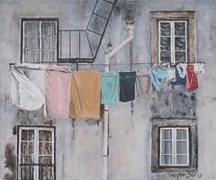 Coimbra (max baris) Tags: windows max art portugal window architecture facade painting louvre paintings front canvas ramen laundry shutters oilpainting gebouwen wasgoed luiken coinbra maxbaris dwwg