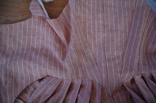 Striped Linen Round Gown