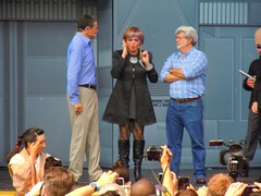Star Tours dedication with George Lucas and Bob Iger - Disney's Hollywood Studios