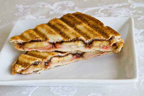 Strawberry Banana Nutella Panini - 4