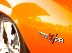 Z/28 (DPTX1) Tags: auto orange chevrolet car arlington emblem classiccar texas camaro chevy musclecar z28