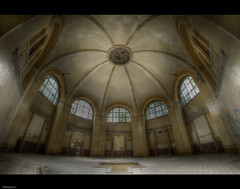 That's What Started it All (Photoportee) Tags: windows abandoned bath stainedglass ceiling tiles dome mission exploration bathhouse ladyb thebeauty beelitz msclassic thefamousinfamous urbexforlife