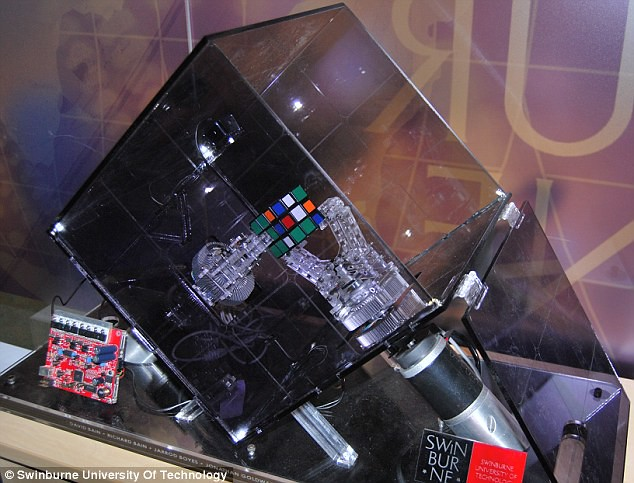 El robot con el récord del cubo de Rubik