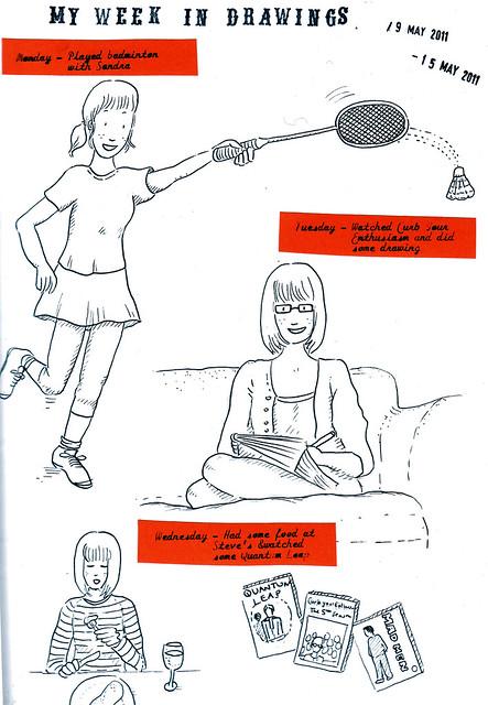 My week in drawings 1